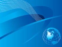 Blue Global Background stock illustration