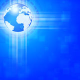 Blue Global Business Background Royalty Free Stock Image