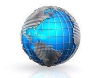 Blue global business world background. Blue global business world background, Globalization concept Stock Photo