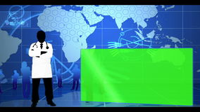 Blue global and medical interface Stock Image