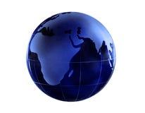 Blue Globe. Blue glass globe isolated on white background royalty free stock photography