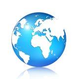Blue globe. 3D blue globe on white background Royalty Free Stock Image