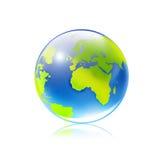 Blue globe. 3D blue globe on white background Royalty Free Stock Photos