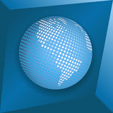 Blue globe Royalty Free Stock Photography
