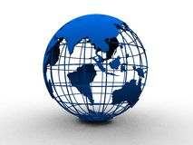 Blue globe Royalty Free Stock Photo