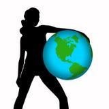 Blue  globe Royalty Free Stock Image