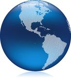Blue Globe Stock Photography