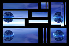 Blue globe. Graphic banners and logos Royalty Free Stock Photo
