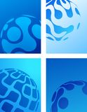 Blue globe abstract background Royalty Free Stock Photo