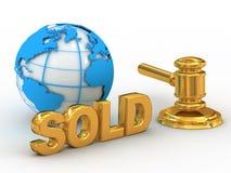 Free Blue Globe And Gavel Royalty Free Stock Photos - 4847008