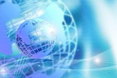 Blue Globe Background Stock Photography