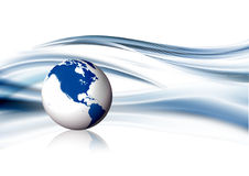 Blue globe background Royalty Free Stock Image