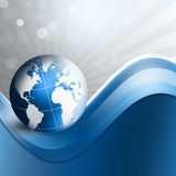 Blue Globe Background Stock Photo