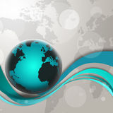 Blue Globe Background Stock Images