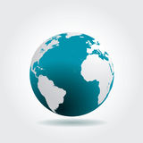 Blue globe clean Stock Image
