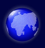 Blue globe with dotted map vector Stock Photo