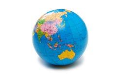 Blue globe isolated Stock Images