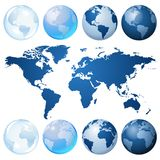 Blue globe kit stock illustration