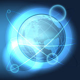 Blue Globe in the Space Royalty Free Stock Image