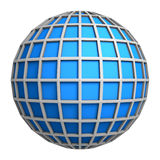 Blue globe symbol. 3d rendering Royalty Free Stock Photography