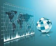 Blue globe on  technology background Royalty Free Stock Images