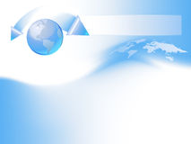 Blue globe template royalty free illustration
