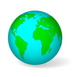 Blue globe vector Stock Images
