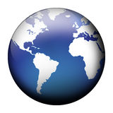 Blue globe view royalty free illustration