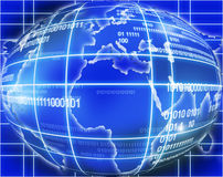 Blue globe world map. Illustration of blue globe world map royalty free illustration