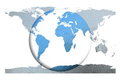 The blue globe and world map. Element of this image furnished by. Nasa. 3D illustration Royalty Free Stock Image