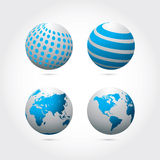 Blue globes Stock Photo