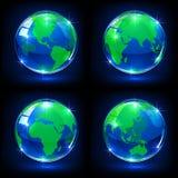 Blue globes Stock Image