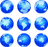 Blue Globes vector illustration