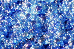 Blue globules closeup Royalty Free Stock Photos