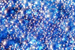 Blue globules closeup Stock Images