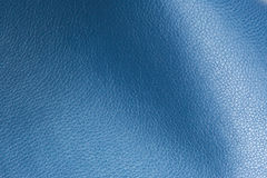Blue Glossy Artificial Leather Background Texture Close-Up Stock Photos