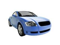 Blue glossy auto Royalty Free Stock Photos