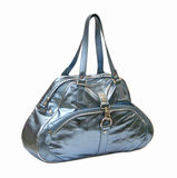 Blue glossy bag Stock Photography