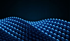 Blue glossy balls as 3D geometry twisted circular shapes Royalty Free Stock Image