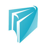 Blue Glossy Book Icon Royalty Free Stock Photo