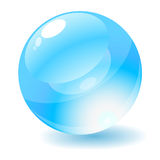 Blue Glossy Circle Web Button. Royalty Free Stock Photography