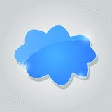 Blue Glossy Cloud Icon Royalty Free Stock Photos