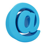 Blue glossy 3D email sign Stock Photos