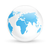 Blue glossy Earth Royalty Free Stock Image