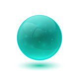 Blue glossy glass sphere Royalty Free Stock Image