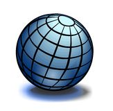 Blue glossy globe earth Royalty Free Stock Image
