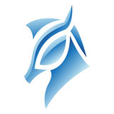 Blue Glossy Horse Icon Royalty Free Stock Images