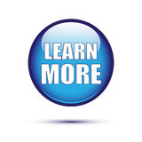 Blue glossy learn more button royalty free illustration