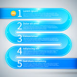 Blue glossy pipe with 5 options. Royalty Free Stock Photography