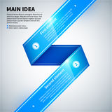 Blue glossy ribbon with two options. Stock Images